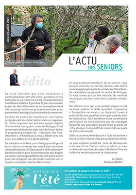 L'actu Des Seniors (Juillet/Août 2021)