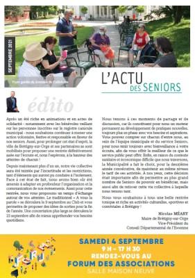 Actu des seniors – Septembre 2021